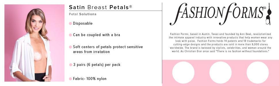 Fashion Forms Womens Satin Petals 6 Pairs