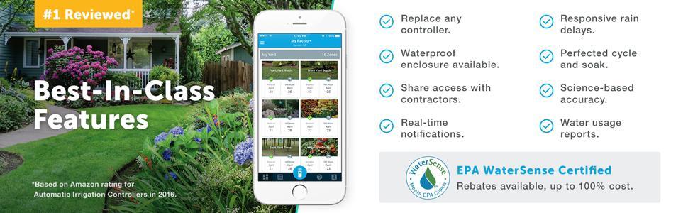 Best-in-class features. EPA WaterSense Certified.