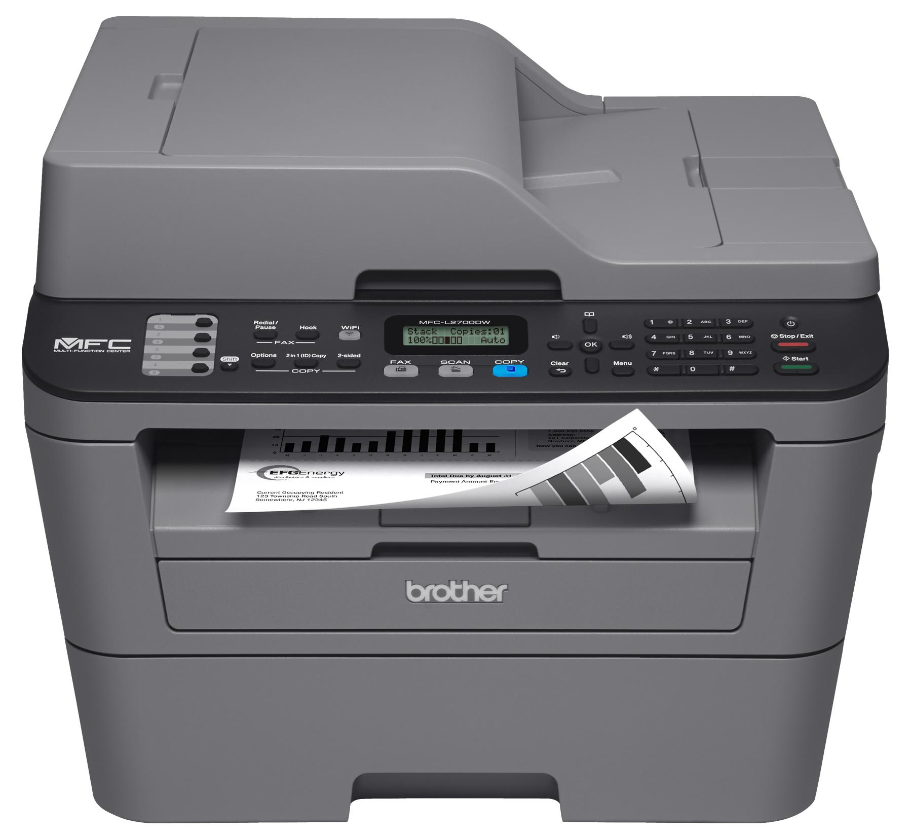 Amazon.com: Brother MFCL2700DW All-In One Laser Printer ...