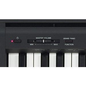 yamaha p45b black 88 weighted keys digital piano keyboard bundle with juliet music. Black Bedroom Furniture Sets. Home Design Ideas