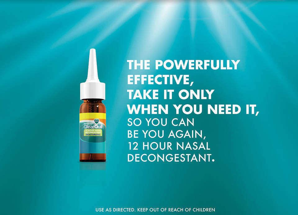 VICKS Qlearquil 12 Hour Nasal Decongestant Moisturizing Spray