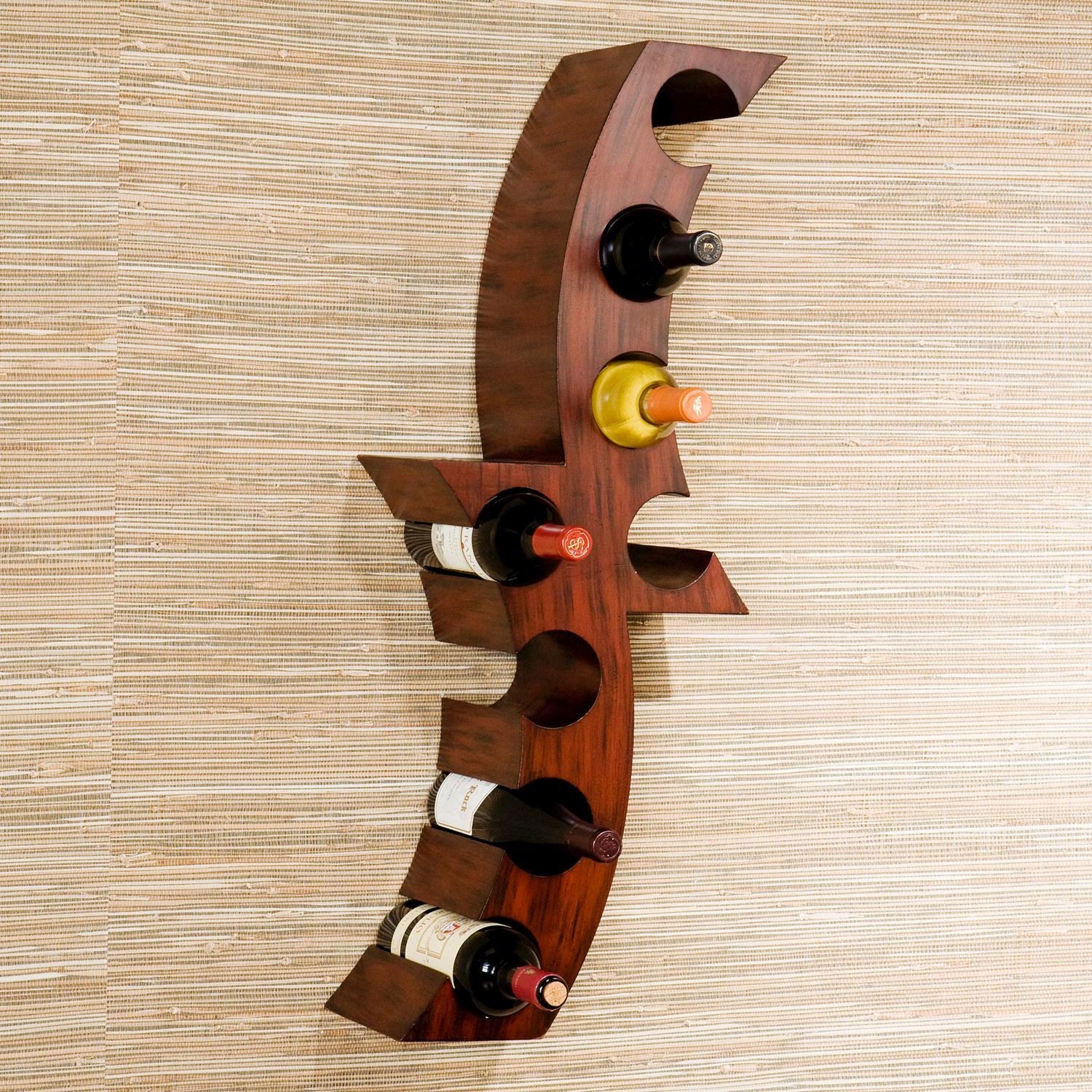 Amazon.com: SEI Calabria Wall Mount Wine Rack: Kitchen