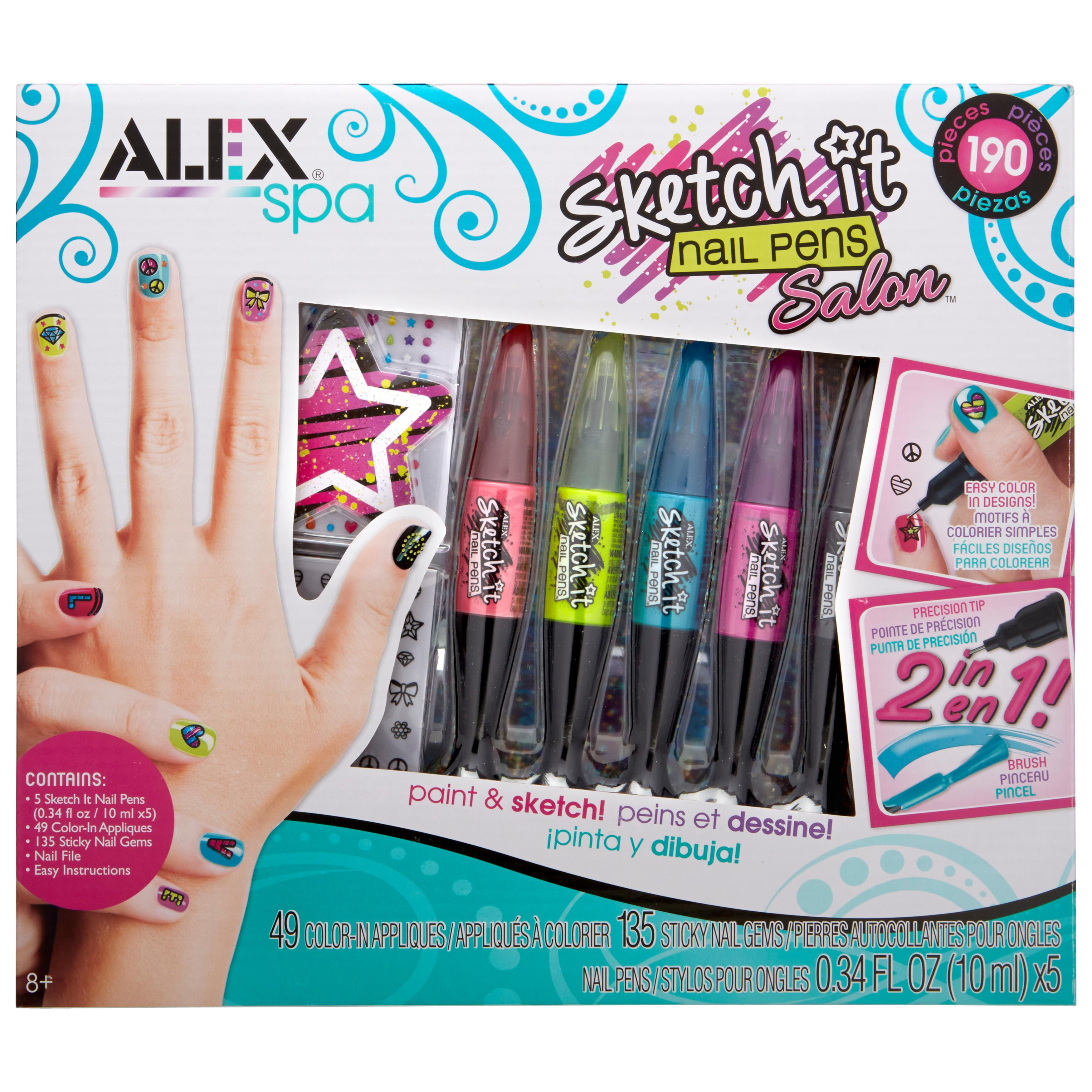 Amazon.com ALEX Spa Sketch It Nail Pens Salon Toys U0026 Games