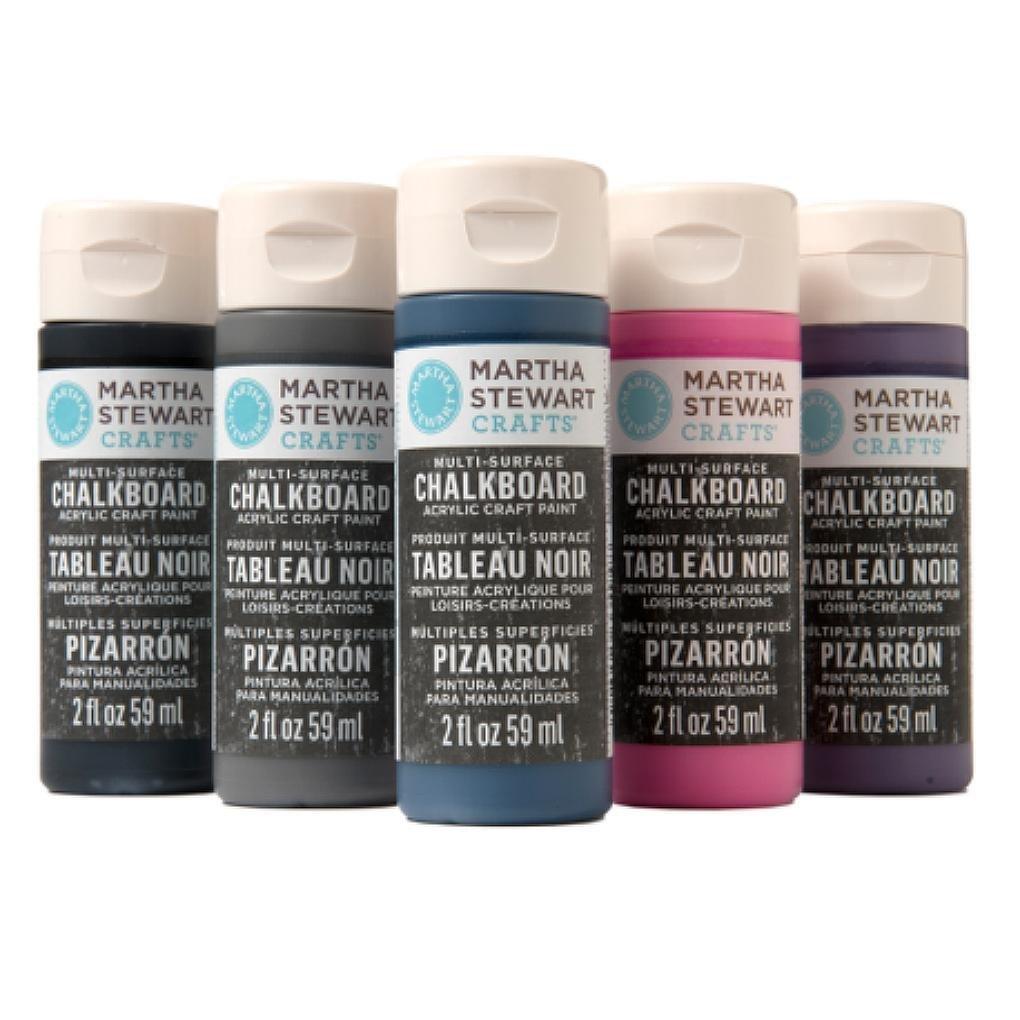 Martha stewart crafts multi surface metallic for Chalkboard paint surface ideas