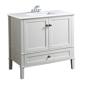 36 Inch Chelsea Soft White Bath Vanity