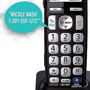 Panasonic KX-TGE232B - Talking Caller ID