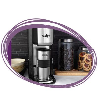 Amazon.com: Mr. Coffee Single Cup Coffee Maker with Travel Mug and Built-In Grinder: Kitchen ...