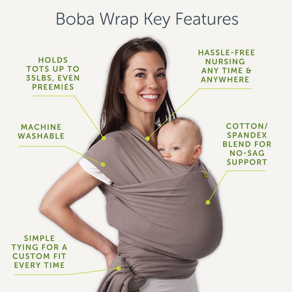 Amazon Com Boba Baby Wrap Carrier Grey The Original
