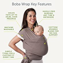 Boba Baby Wrap Features