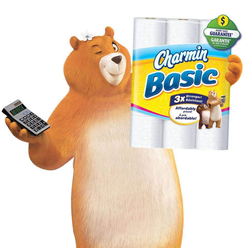 Amazon Com Charmin Basic Toilet Paper 40 Double Roll 10