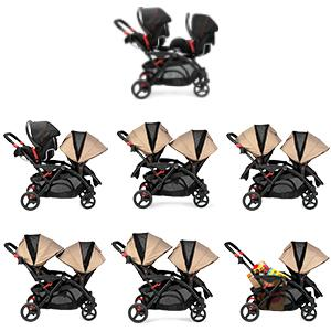 Amazon.com : Contours Options Elite Tandem Stroller, Sand : Baby
