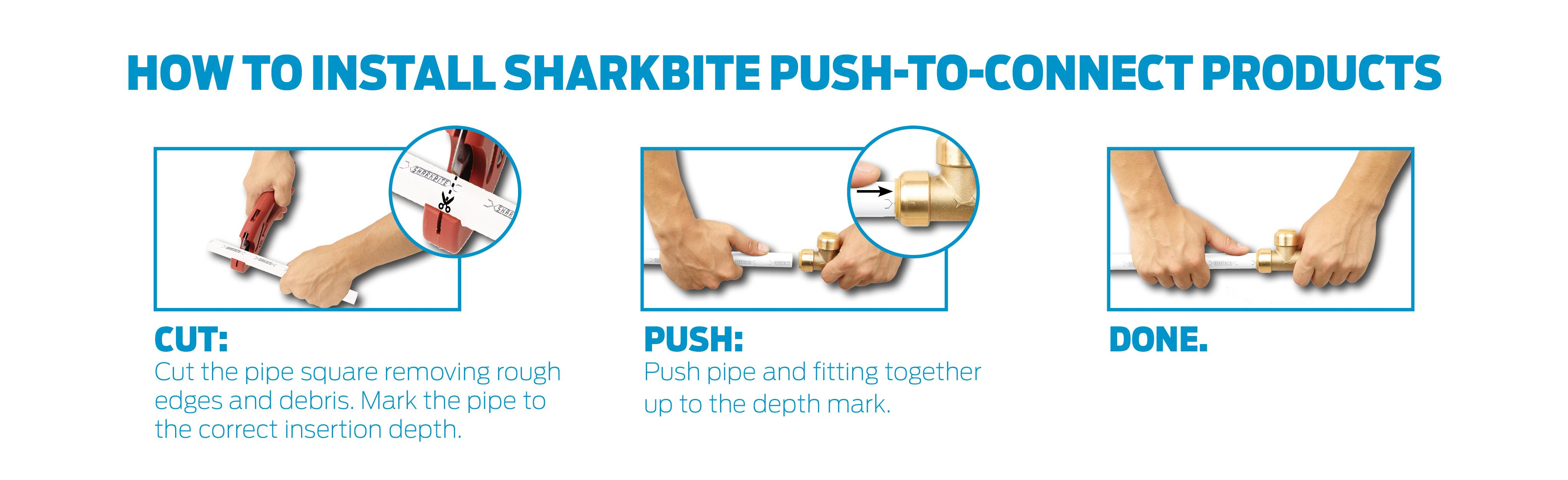 plumbing connect to product tees pex use tee polymer copper bite x more shark for w push