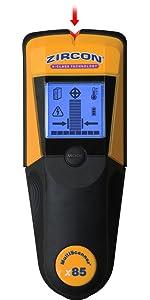 Stud finder, wall scanner, x85, Deep Scan, Zircon, Center Finding, AC Mode, Thermal Scanner, Zircon