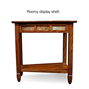 #10056,Rustic Slate Recliner wedge,Rustic oak finish,Distressed,Running Slate Details,Display Shelf,