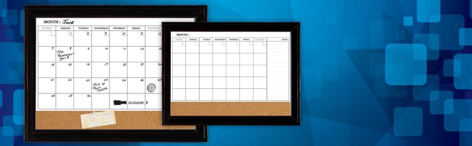 Dry Erase Calendar And Cork Board Combo : Amazon quartet magnetic combination calendar board