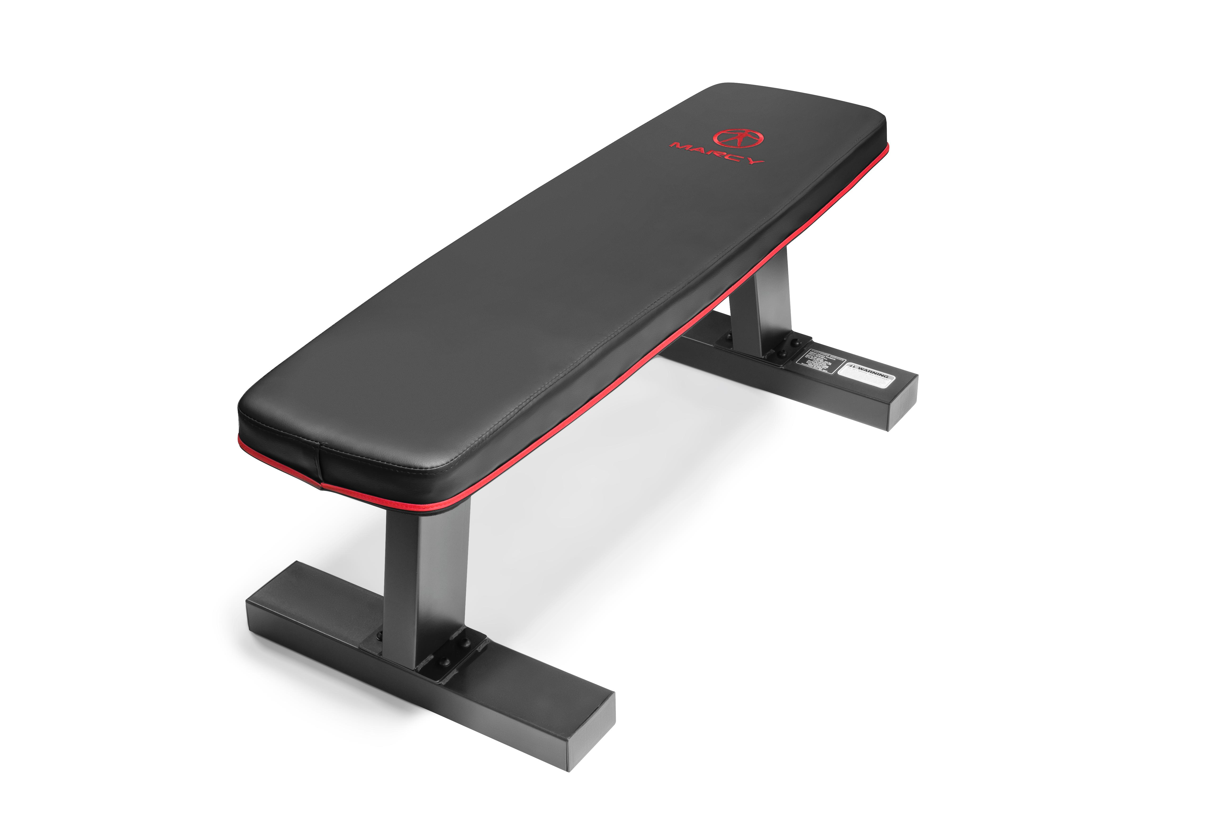 Marcy Sb 10510 Deluxe Versatile Flat Bench Steel Frame Sports Outdoors