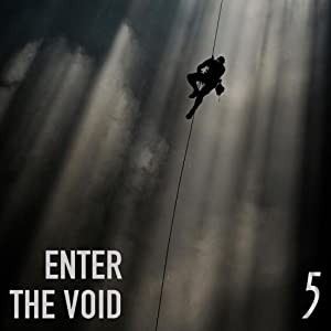 5 Gum lifestyle. Enter the void. Dare to be brave. Person climbs rope up into the clouds.