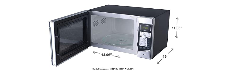 ... Countertop Digital Microwave Oven, Stainless Steel/Black: Countertop