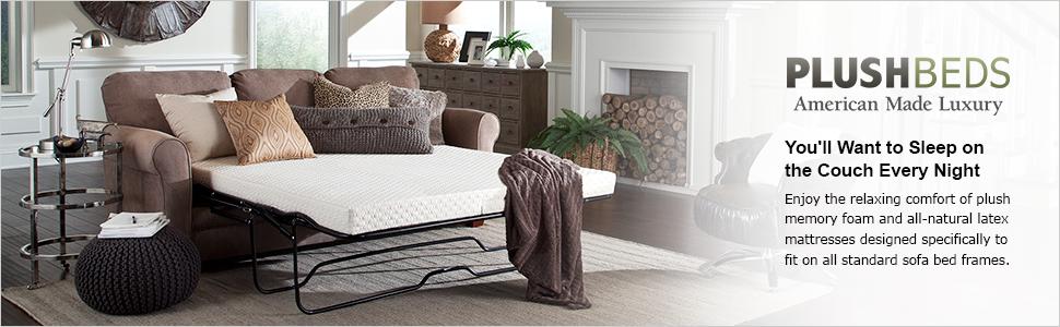 amazon com plushbeds natural latex sofa bed mattress queen rh amazon com