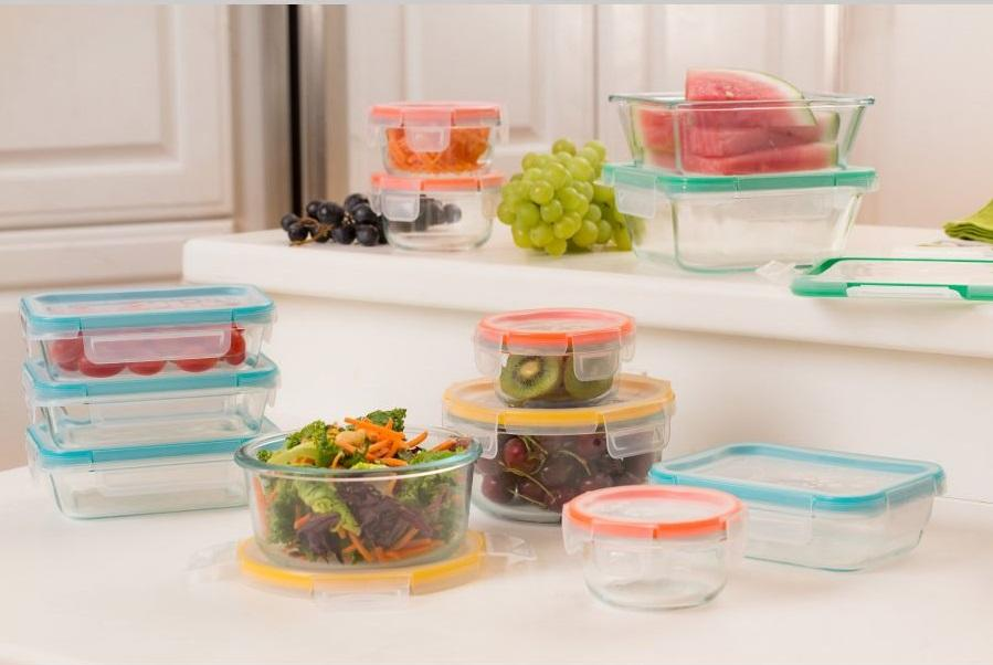 Pyrex Snapware: 18PC Total Solution Pyrex Glass Food Keeper Set Featuring Write N' Erase Lids 18PC 18Piece Set.