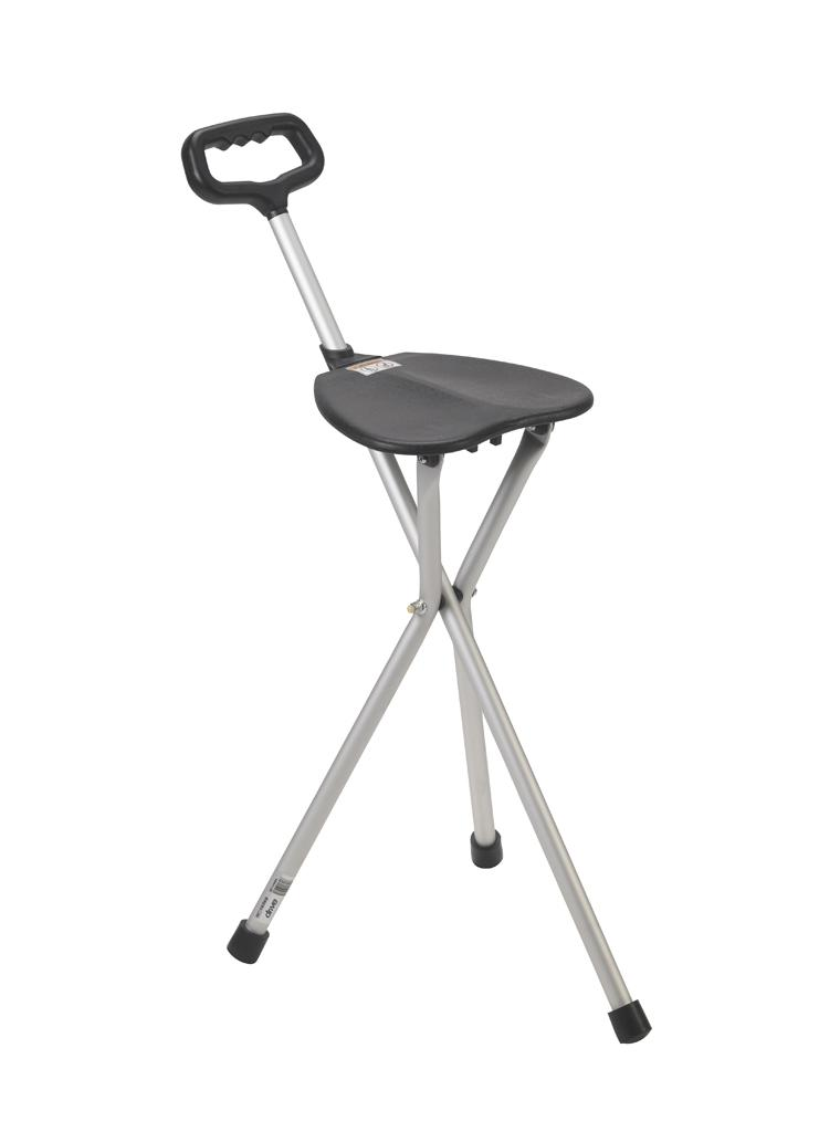 Marvelous Drive Medical Deluxe Folding Cane Seat Black Pabps2019 Chair Design Images Pabps2019Com