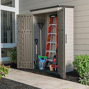 large vertical outdoor storage shed features and benefits