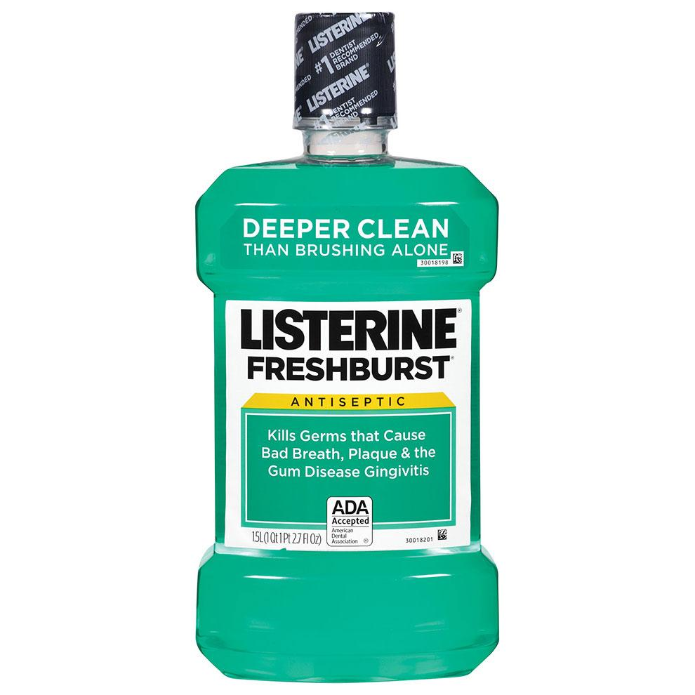 Amazon Com Listerine Antiseptic Mouthwash Fresh Burst 1