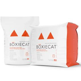 Boxiecat Extra Strength Cat Litter 16 lb and 28 lb packaging