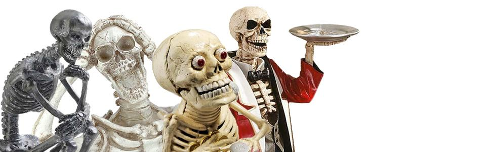 halloween decor, skeletons, skulls,