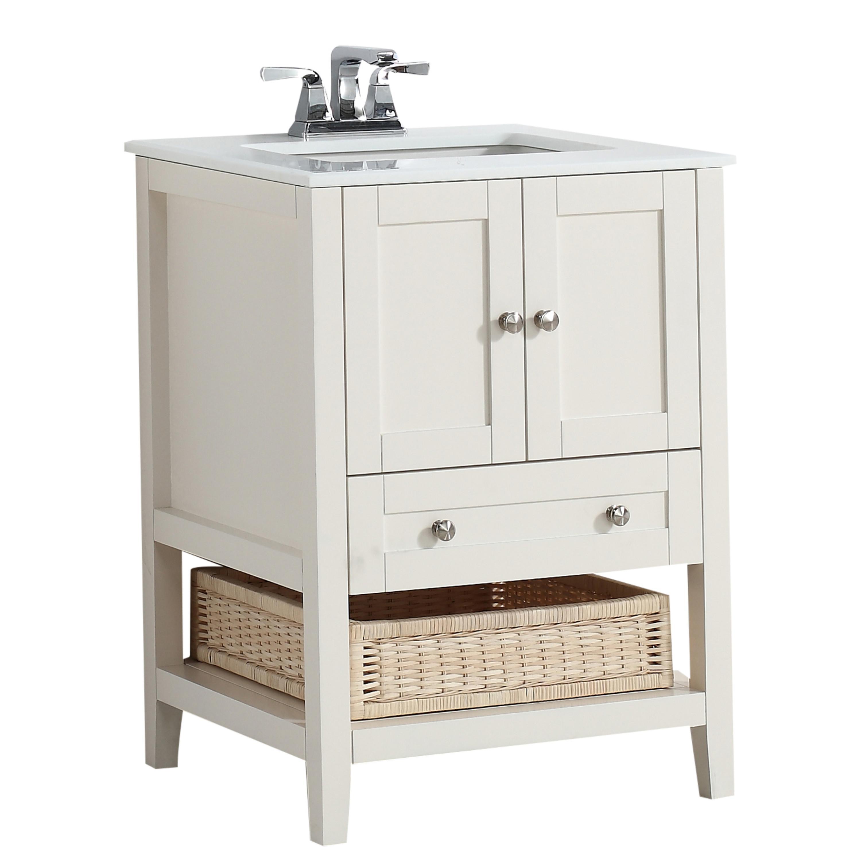 Simpli Home Cape Cod 24 Quot Bath Vanity With White Quartz