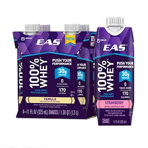 EAS 100% Whey Protein Ready-to-Drink Shakes
