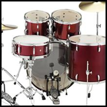 5-pc. Drum Set w/Cymbals