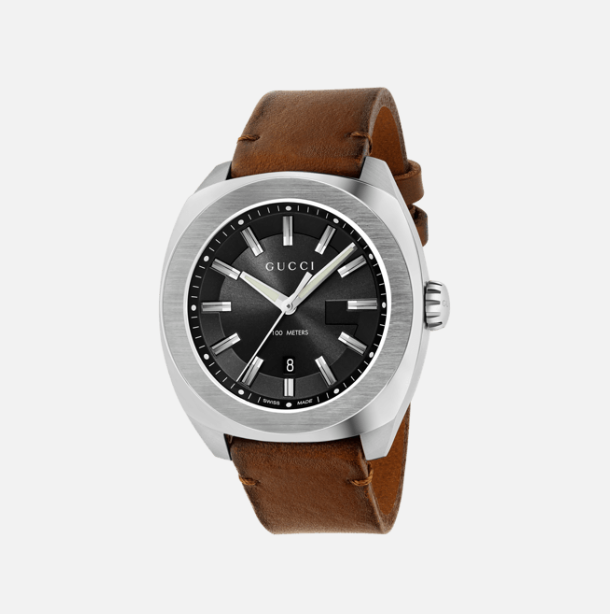 The sun-brushed dials feature the G monogram shadow in a three dimensional interpretation which gives iconic identity where indexes are presented in a ...