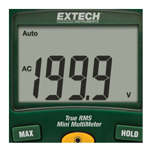 Extech, EX205T, RMS, multimeter, electronic systems, commercial, industrial