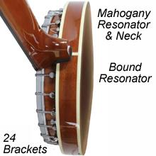 6 string banjo with real wood neck