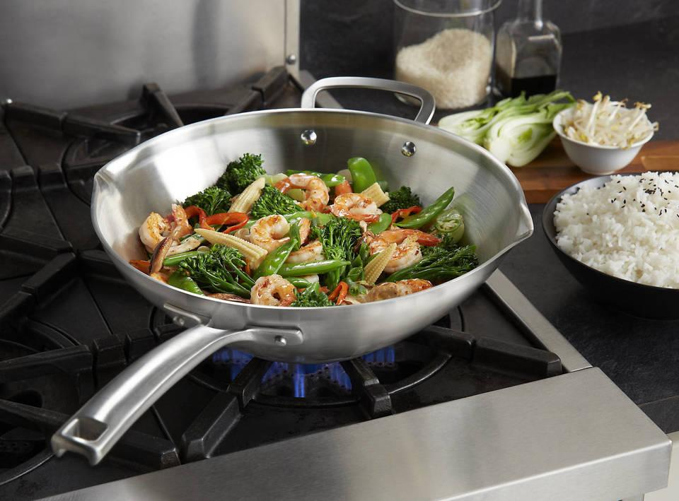 calphalon classic stainless steel 12inch stir fry pan - Stir Fry Pan