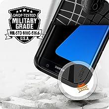 galaxy s7 borde;; Samsung pie; la cubierta; de alta resistencia; dos capas; a prueba de golpes; grado militar; accidentado