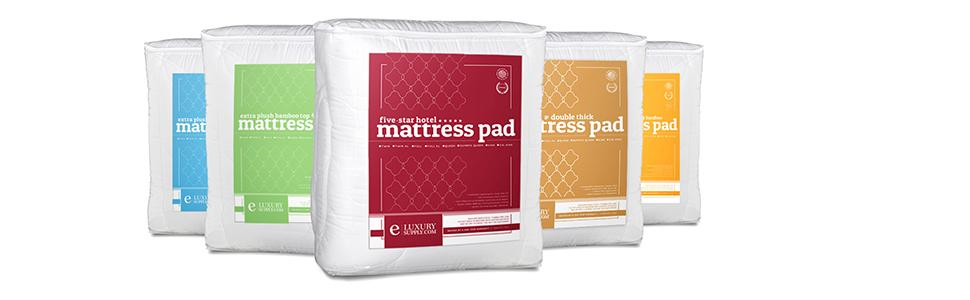 Amazon Com Mattress Pad With Fitted Skirt Extra Plush