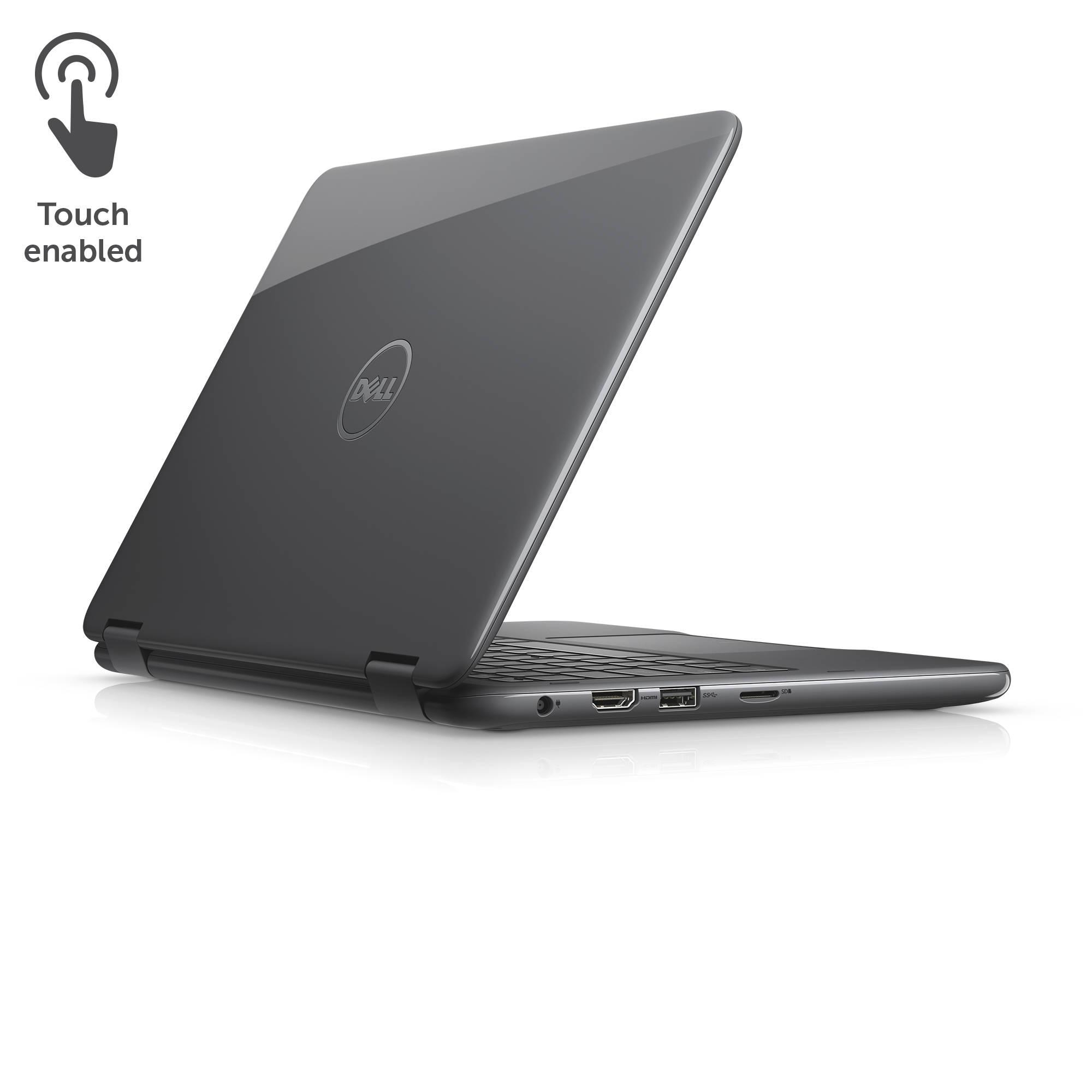 Amazon com dell inspiron i3168 3272gry 11 6 quot hd 2 in 1 laptop tablet