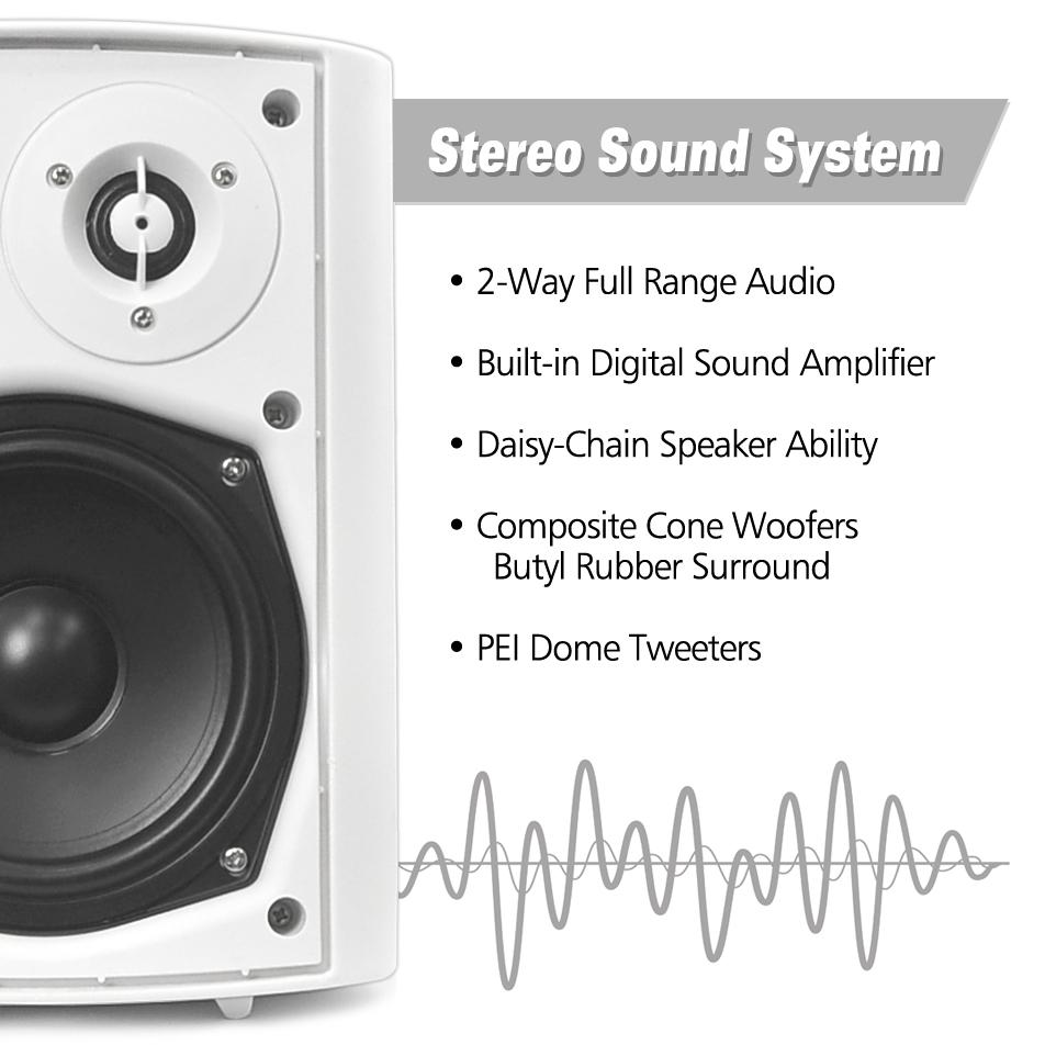 Pyle Outdoor Wall Mount Patio Stereo Speaker Wiring Speakers To Activepassivespeakershometheatersurroundsoundaudio