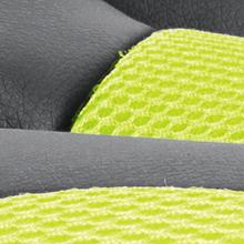 padding;cushion;comfortable;soft;durable;leather;mesh;fabric;two-tone;seat;back;arms