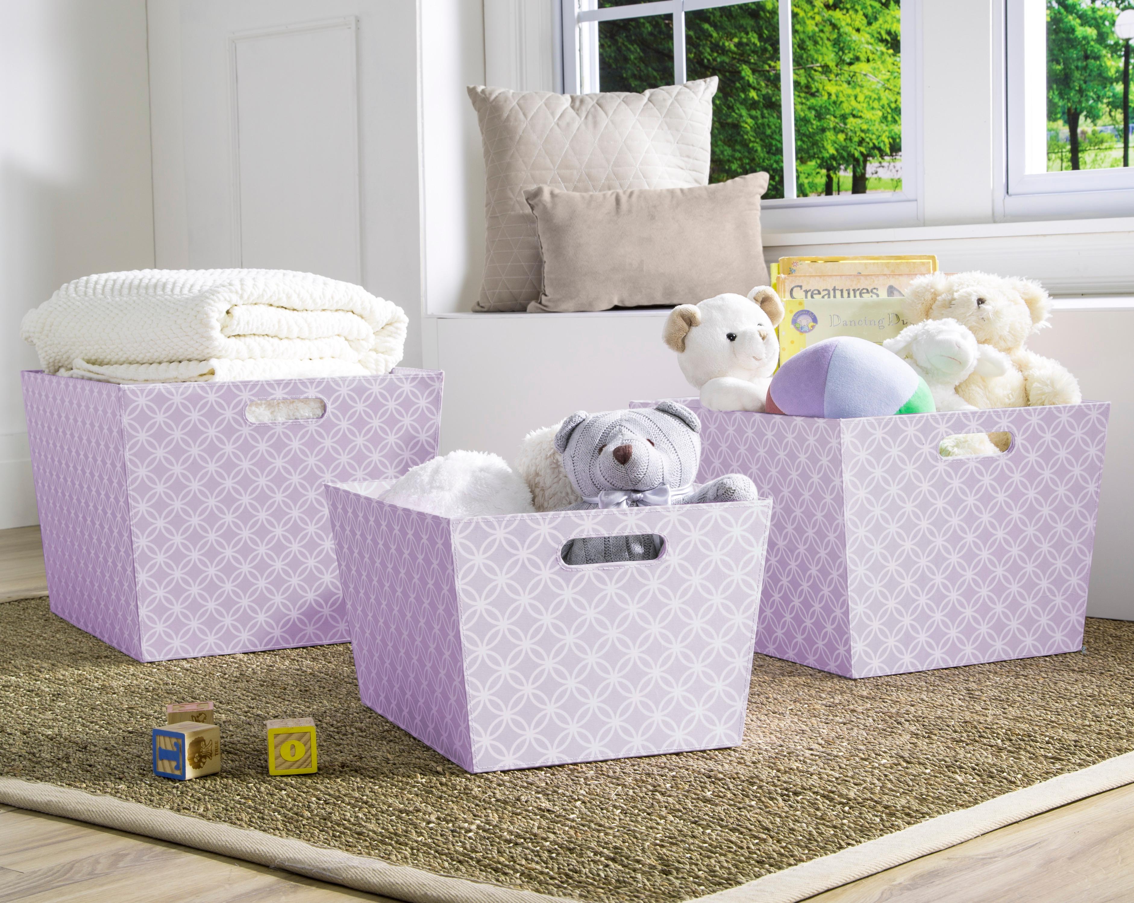Lavender Nursery Amazoncom Delta Children Deluxe Totes Lavender Geometric 3