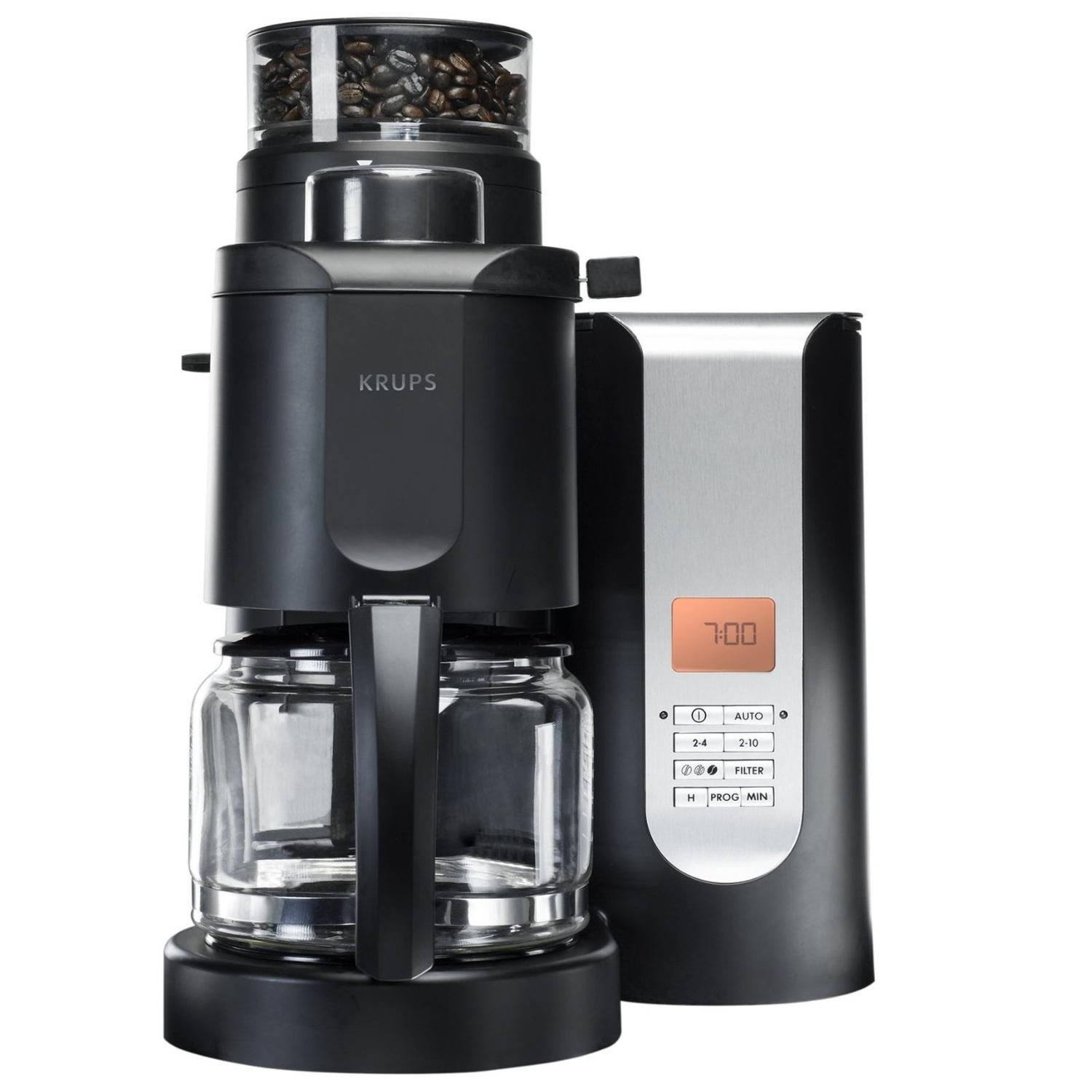 Drip Coffee Maker Problems : Amazon.com: KRUPS KM7005 Grind and Brew Coffee Maker with Stainless Steel Conical Burr Grinder ...