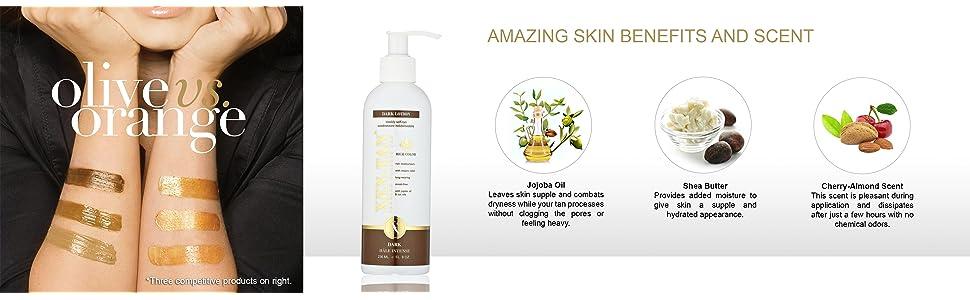 Dark Lotion Skin Benefits & Scent