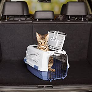 Two-Door Top-Load Pet Kennel, Review of AmazonBasics 19-Inch Two-Door Top-Load Pet Kennel