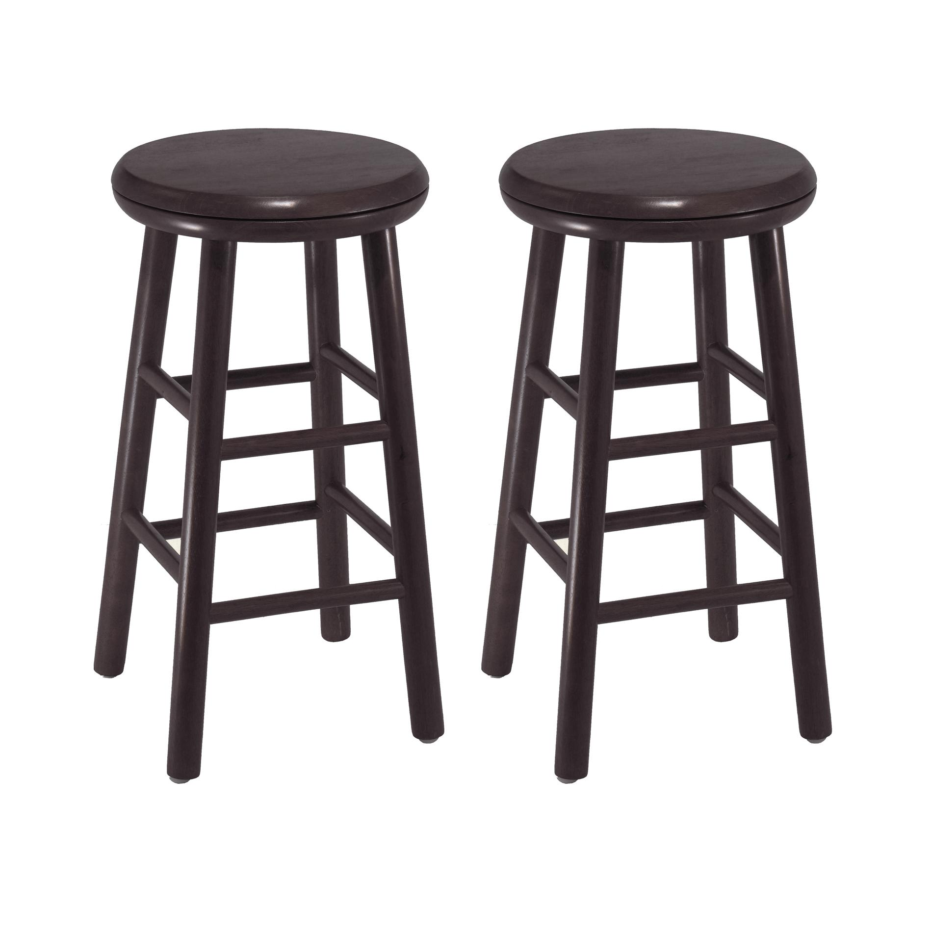 Amazoncom Winsome Wood 24Inch Swivel Bar Stools Dark Espresso