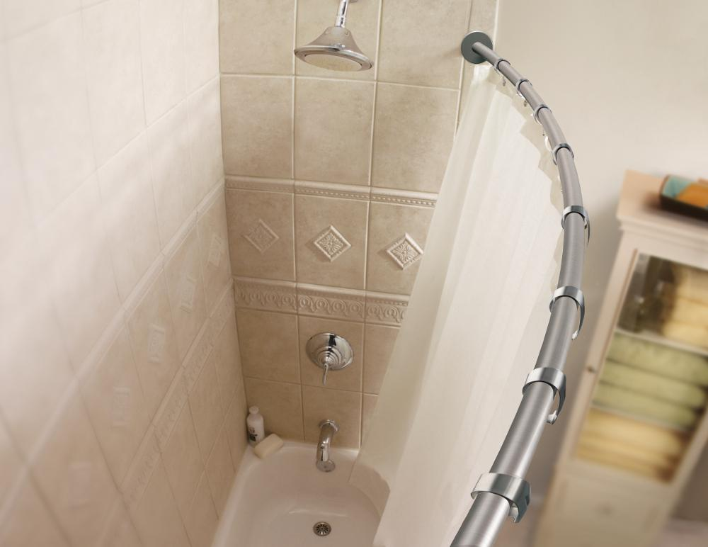 Amazon.com: Moen CSR2145CH 5-Foot Curved Shower Rod, Chrome: Home ...