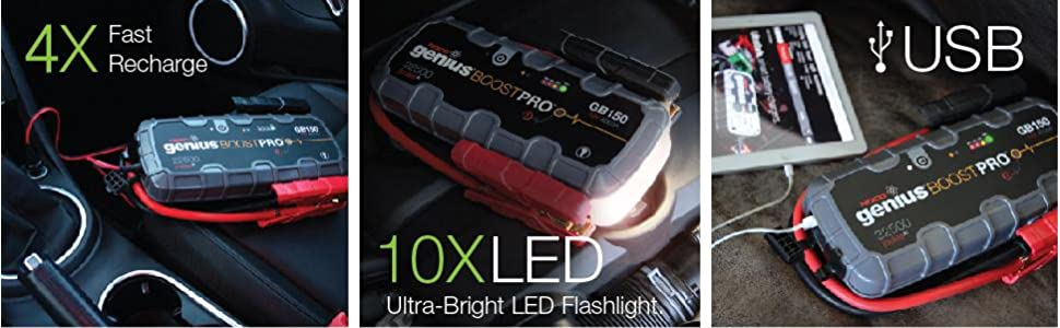 12 volt, fast recharge, emergency strobe, led flashlight, usb recharger