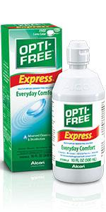 opti free express, opti free contact solution, contact lens cleaner, best contact lens solution