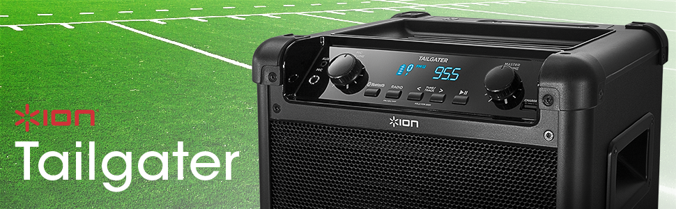 Ion Audio iPA77 Tailgater Portable Bluetooth Speaker PA System with Microphone, AM/FM Radio, and USB